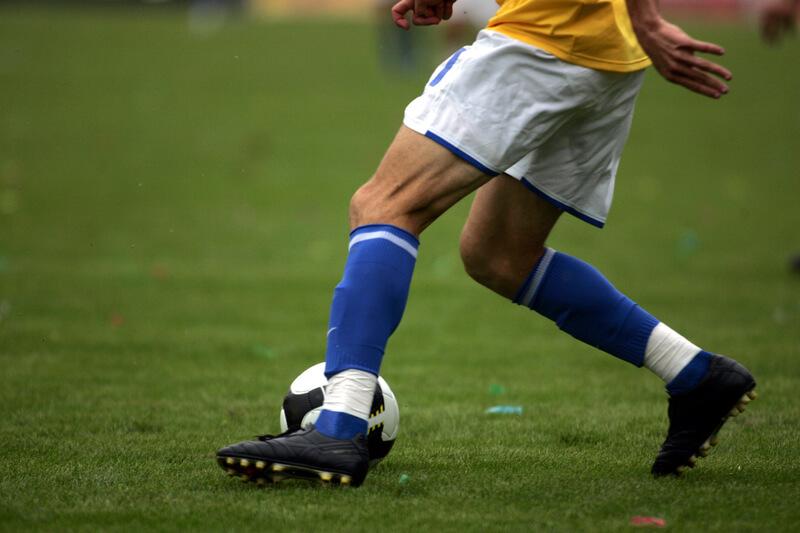 Spela på fotboll